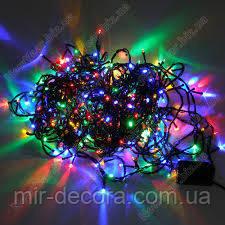 Гирлянда на елку диодная разноцветная 200 ламп 12 метров