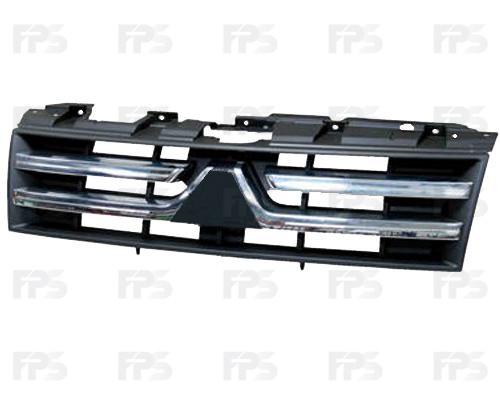 Решетка радиатора Mitsubishi Pajero Wagon 4 07- хром/черн. (FPS)
