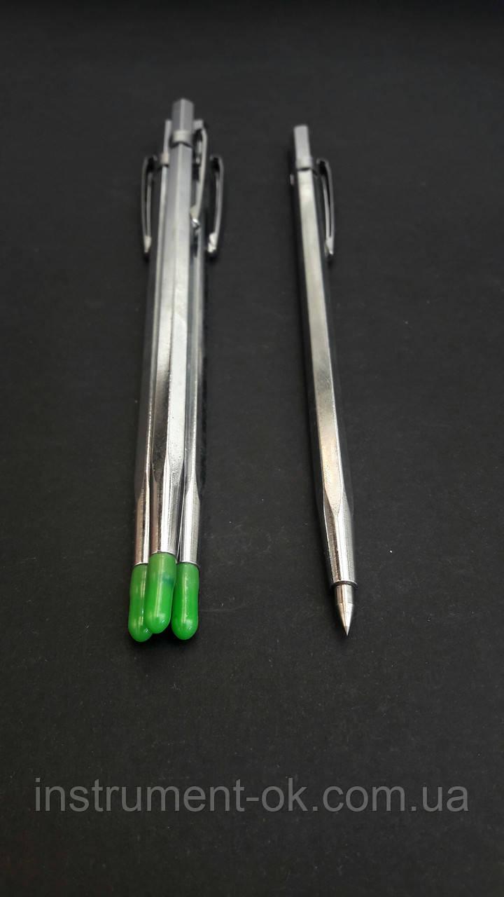 Чертилка-ручка хромированная с победитовым наконечником