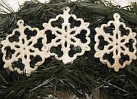 Новогодний декор елочное украшение Снежинка малая