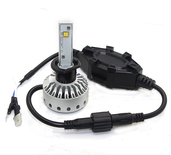 H1 Mini Size LED Headlight Premium Short (5000Lm) +Canbus Function