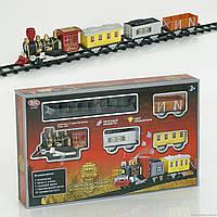 Детская Железная дорога 0606 музыка, свет, поезд, 3 вагона, на батарейке