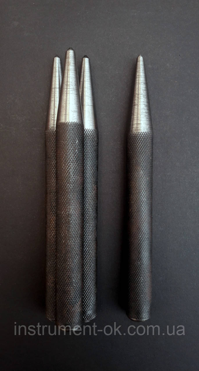 Керно слесарное цельное калёное с накаткой большое