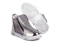 Демисезонные ботинки GFB 1705-6 темное-серебро (Размеры: 31-36)
