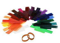 Цветные гелевые фильтры для вспышки 20 штук в наборе 7х6см