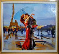 Вышивка камнями Бриллиантовые ручки (на подрамнике) Двоє з парасолькою (на подрамнике) (GU_198776) 40 х 50 см