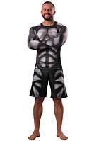 Рашгард и шорты MMA Berserk  IRON MEN black, фото 1