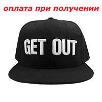 Мужская стильная кепка, бейсболка, прямой козырек GET OUT Snapback