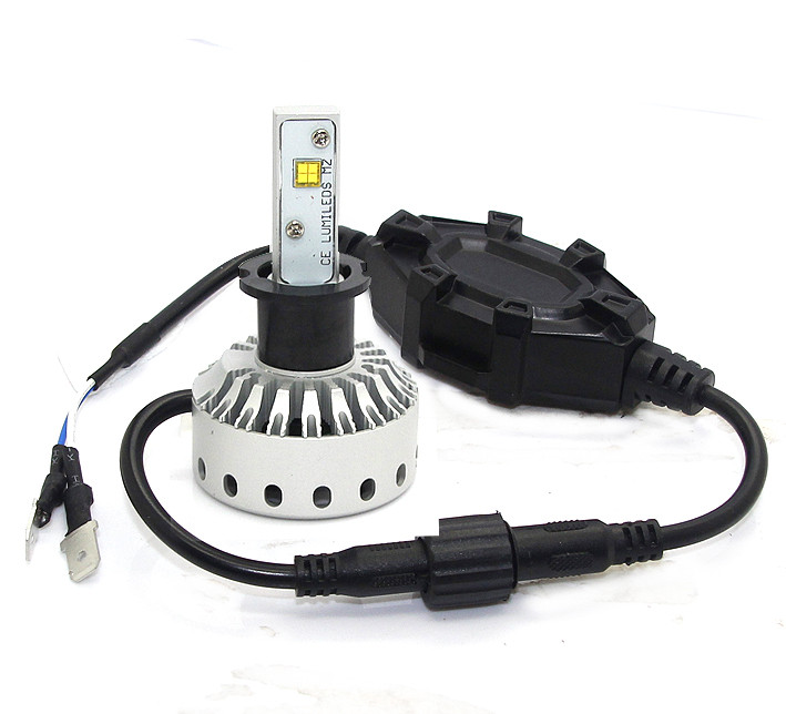 H3 Mini Size LED Headlight Premium Short (5000Lm)  +Canbus Function