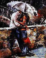 Вышивка камнями Бриллиантовые ручки (на подрамнике) Мелодия дождя (на подрамнике) (GU_198854) 40 х 50 см