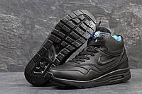 Кроссовки мужские Nike Air Max 87. Замша Мех 100%. Черные