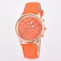 Часы G-012 диаметр циферблата 4 см, длина ремешка 17-21 см, оранжевый цвет