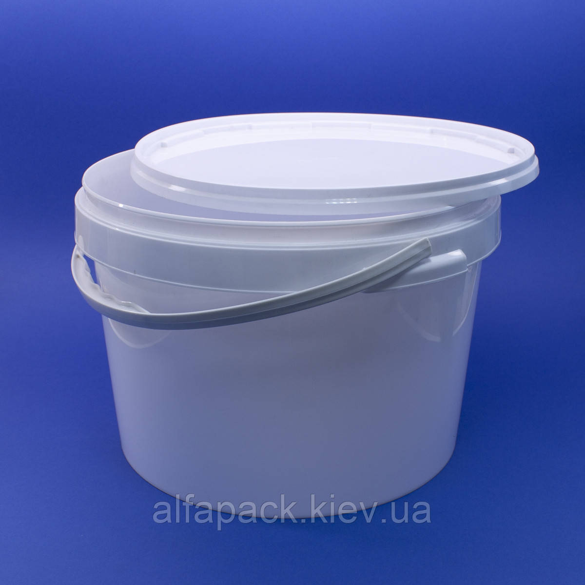 Ведро пластиковое белое 20 л