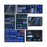 Набор инструментов для тележки 259 пр. в мягких ложементах - King Tony 934-018MRVD