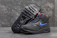 Кроссовки мужские Nike Air Max 87. Замша Мех 100%. Тёмно синие