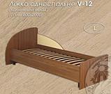 Кровать V-12 односпальная (Континент) 800х2000мм , фото 2