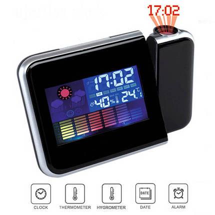Часы с проектором времени Color Screen Calendar 8190, фото 2
