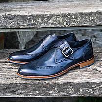 Итальянские мужские кожаные туфли  монки 43 размер