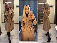 """Бежевое """"кашемировое"""" женское пальто"""
