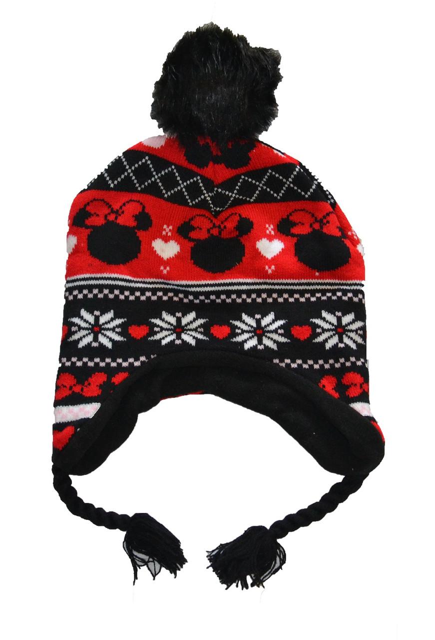 Шапка зимняя детская на завязках для девочки