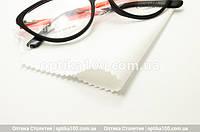 Белая салфетка для оптики, очков, линз