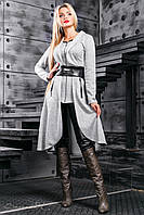 Оригинальный женский кардиган, серый, трикотаж, размер 42-48