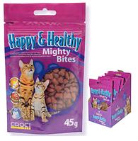 Лакомство для кошек Croci Happy&Health Flex со вкусом бекона (для поддержания здоровья суставов)
