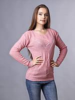 Свитер женский розовый