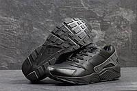 Кроссовки мужские Nike Huarache. Кожа Мех 100%. Черные