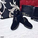 Женские лоферы натуральный замш на шнурках, фото 2