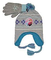 Шапка и перчатки детские для девочки