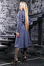 Оригинальный женский кардиган, размеры 42 от 48, электрик, трикотаж с люрексом, фото 5