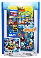 Конструктор mega bloks Губка Боб фигурки Рок музыканты Mega Bloks SpongeBob Rock Band Figure Pack , фото 1