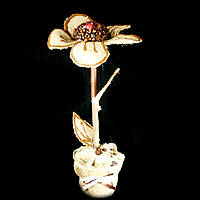Подарок кофейная тематика топиарий Цветок 35см 9946