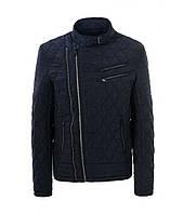 Куртка мужская стеганая синяя 2 замка