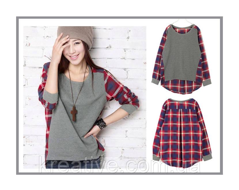 Рубашки в клетку- свитшот (под заказ от 50 шт) с НДС