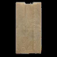 Пакет бумажный с прозрачной вставкой  210*100*50 100шт (68) Крафт