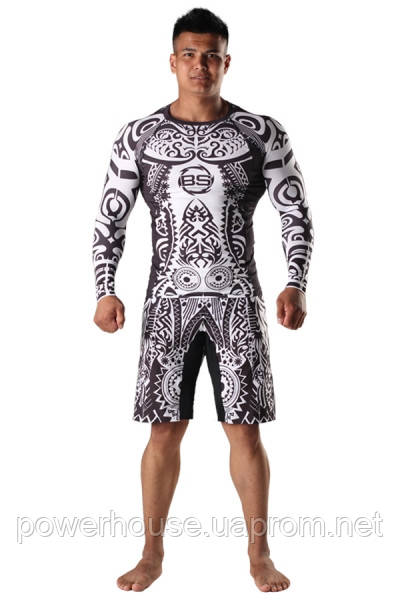Рашгард и шорты MMA Berserk AFRICAN MASK black