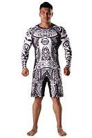 Рашгард и шорты MMA Berserk AFRICAN MASK black, фото 1
