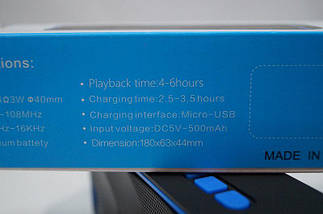 Bluetooth колонка wireless SC211, портативная, 6 Вт, +радио., фото 3