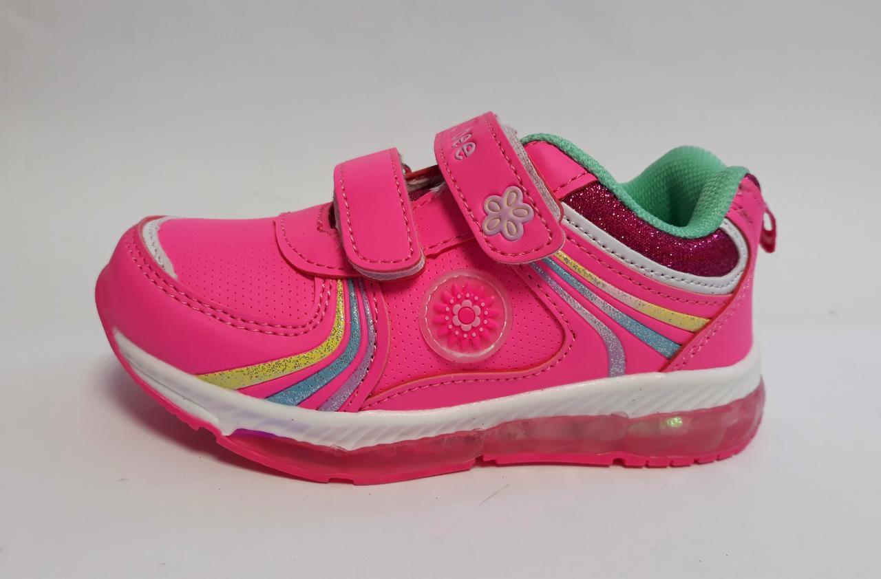 0e0d5184 Кроссовки для девочек Светящие Розовый K190peach-green(23)+ Clibee Польша -  интернет