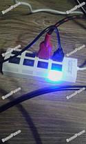 USB Hub 4 порта, Хаб usb  на четыре порта с подсветкой белого цвета., фото 3