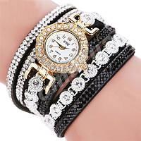 Женские часы-браслет со стразами  Black