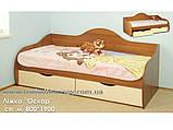 Кровать Оскар №1 односпальная (Континент) 800х1900мм, фото 2