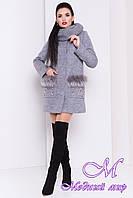 Женское красивое зимнее пальто с хомутом (р. S, М, L) арт. Ажен зима 17862