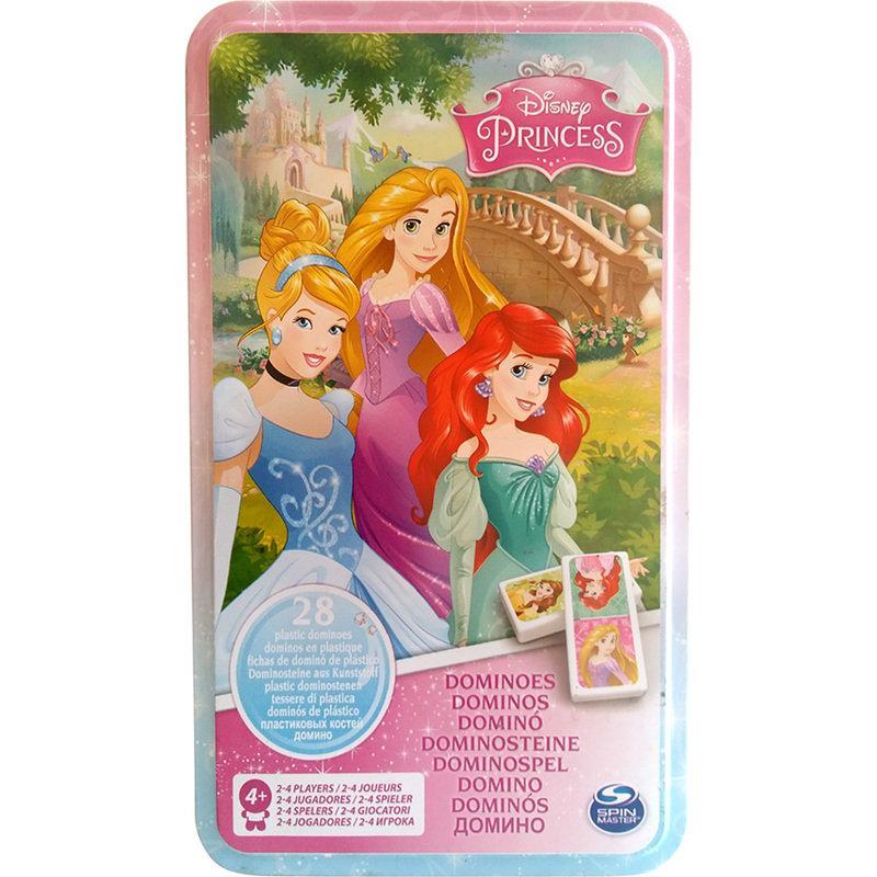 """Настольная игра: домино """"Принцессы"""" (в жестяной коробке) SM98408/6033089 Spin Master"""