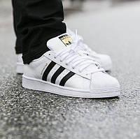 Оригинальные кроссовки adidas Superstar Black Stripes (C77124)