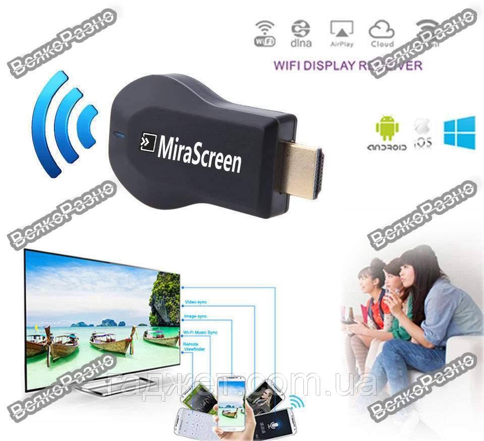 Беспроводной адаптер WI-FI MIRASCREEN. Смарт адаптер MiraScreen 2.4GHz HDMI Wi-Fi