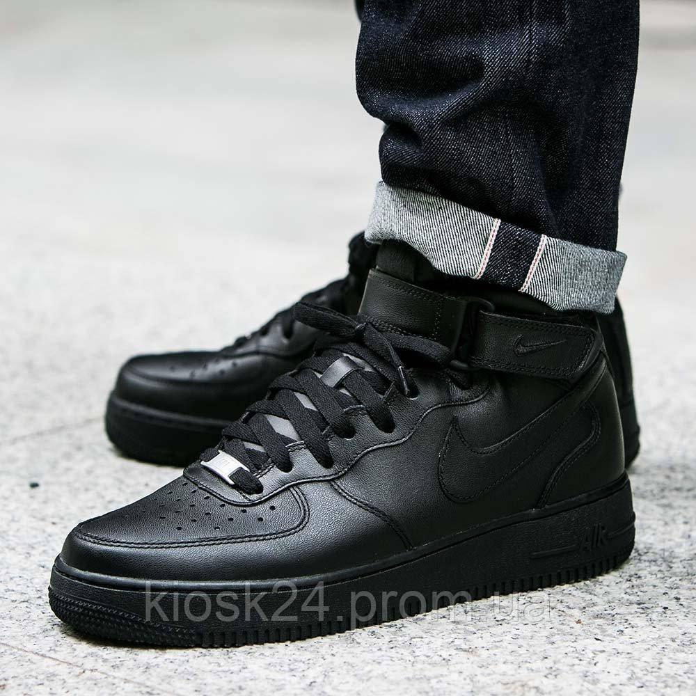8d6c50817 Оригинальные кроссовки Nike Air Force 1 Mid 07 All Black (315123-001 ...