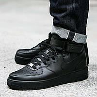 Оригинальные кроссовки Nike Air Force 1 Mid 07 All Black (315123-001)